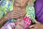 Dona Joaquina que foi ao descanso eterno aos 107 anos de idade