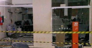 Banco em Rubelita que foi alvo dos Criminosos. Foto Dindol da Líder
