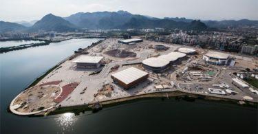 Parque Olimpico construido no Rio de Janeiro. Algumas estruturas são modulares e podem ser desmontadas e montadas em outros lugares