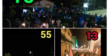 Caminhadas dos 3 Candidatos a Prefeito de Araçuaí