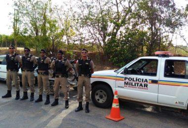 Alguns dos Policiais Militares da Cidade de Araçuaí