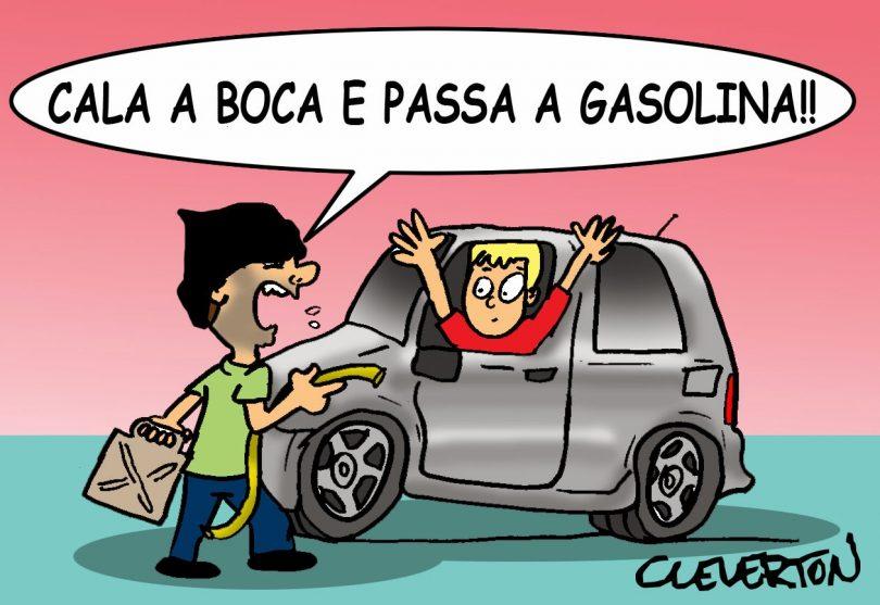 Resultado de imagem para charge posto de gasolina